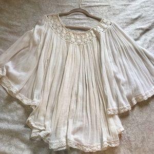 Free People Off The Shoulder Shirt/Mini Dress